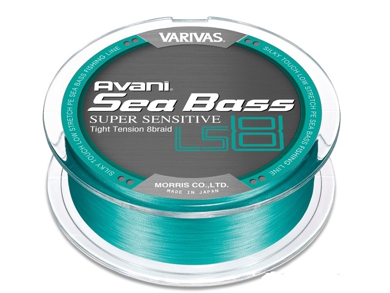 Шнур varivas avani seabass pe avani seabass pe supersensitive ls8 no.1.5 (max27.8lb) 150m roll # blue green