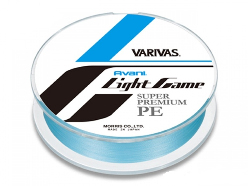 Шнур varivas avani light game avani light game pe 0.3 / 6.5lb 150m (75m marking) #natural blue