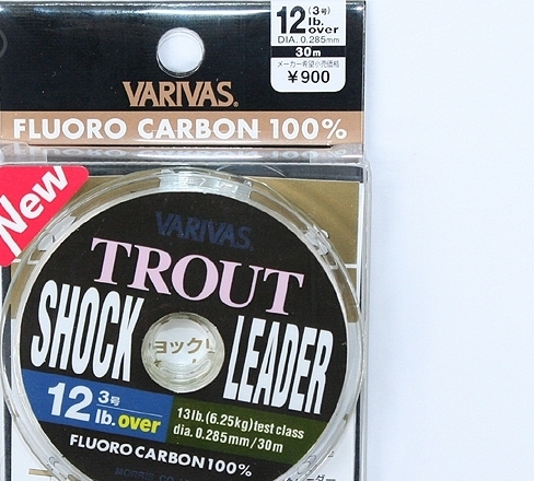 Леска varivas trout shock leader 12lb over 30m roll #natural