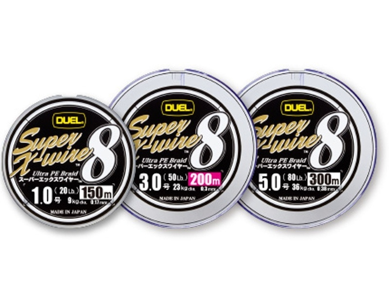 Шнур duel super x wire super x wire eight 1.2 no.27lb 200m 10m × 5 color marking