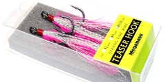 Тройники  megabass feather hook teaser hook # 1/0 #pink