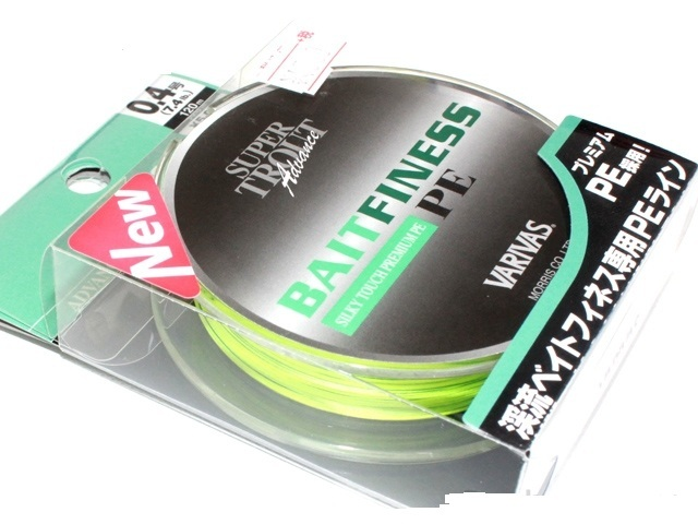 Шнур  varivas maurice trout advance bait finesse trout advance bait finesse pe 0.4 (7.4lb) 120m # flash yellow / green